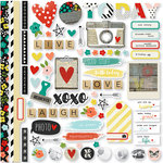 Simple Stories - Life In Color Collection - 12 x 12 Cardstock Stickers - Fundamentals