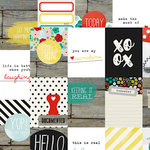 Simple Stories - Life In Color Collection - 12 x 12 Double Sided Paper - 3 x 4 Journaling Card Elements