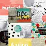 Simple Stories - Life In Color Collection - 12 x 12 Double Sided Paper - 4 x 6 Horizontal Journaling Elements