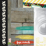 Simple Stories - Life In Color Collection - 12 x 12 Double Sided Paper - 2 x 12, 4 x 12 and 6 x 12 Elements