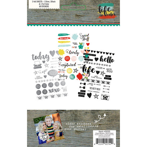 Simple Stories - Life In Color Collection - Clear Stickers