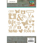 Simple Stories - Life In Color Collection - Wood Veneer Pieces