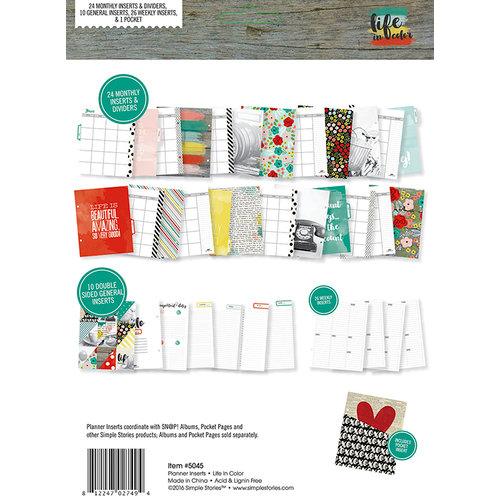 Simple Stories - Life In Color Collection - 6 x 8 SNAP Planner Set - Undated