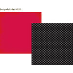 Simple Stories - DIY Collection - 12 x 12 Double Sided Paper - Boutique Polka/Red