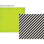 Simple Stories - DIY Collection - 12 x 12 Double Sided Paper - Boutique Stripes