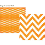 Simple Stories - DIY Collection - 12 x 12 Double Sided Paper - Orange Chevron