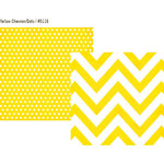 Simple Stories - DIY Collection - 12 x 12 Double Sided Paper - Yellow Chevron