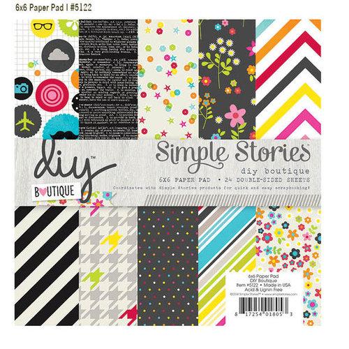 Simple Stories - DIY Collection - 6 x 6 Paper Pad - Boutique