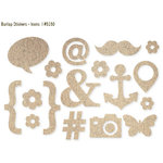 Simple Stories - DIY Collection - Burlap Stickers - Icons