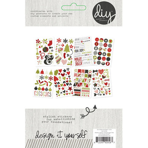 Simple Stories - DIY Christmas Collection - Cardstock Stickers - Icons