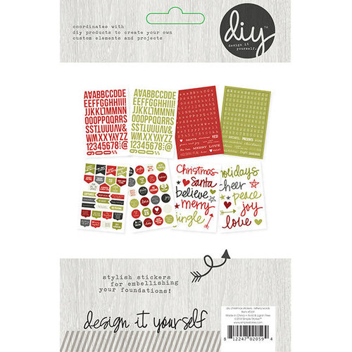 Simple Stories - DIY Christmas Collection - Cardstock Stickers - Letters and Words
