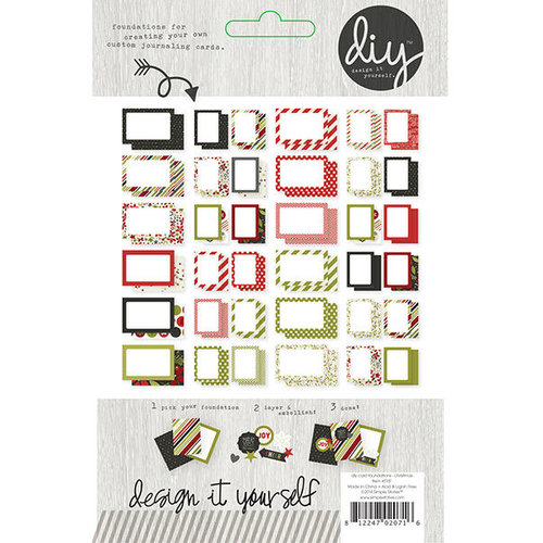 Simple Stories - DIY Christmas Collection - 3 x 4 and 4 x 6 Card Foundations