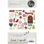 Simple Stories - DIY Christmas Collection - Chipboard Stickers