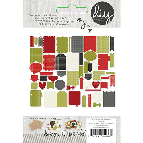 Simple Stories - DIY Christmas Collection - Journal Layers
