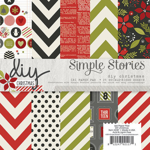 Simple Stories - DIY Christmas Collection - 6 x 6 Paper Pad