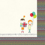 Simple Stories - Let's Party Collection - 12 x 12 Double Sided Paper - It's Your Day