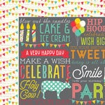 Simple Stories - Let's Party Collection - 12 x 12 Double Sided Paper - Hip Hip Horray