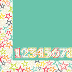 Simple Stories - Let's Party Collection - 12 x 12 Double Sided Paper - Make a Wish