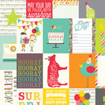 Simple Stories - Let's Party Collection - 12 x 12 Double Sided Paper - 3 x 4 Journaling Card Elements