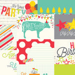 Simple Stories - Let's Party Collection - 12 x 12 Double Sided Paper - 4 x 6 Horizontal Journaling Card Elements
