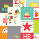 Simple Stories - Let's Party Collection - 12 x 12 Double Sided Paper - 4 x 4 and 4 x 6 Vertical Journaling Card Elements