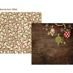 Simple Stories - Cozy Christmas Collection - 12 x 12 Double Sided Paper - Deck the Halls