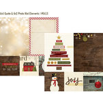 Simple Stories - Cozy Christmas Collection - 12 x 12 Double Sided Paper - Quote and Photo Mat Elements