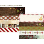 Simple Stories - Cozy Christmas Collection - 12 x 12 Double Sided Paper - Border and Title Strip Elements