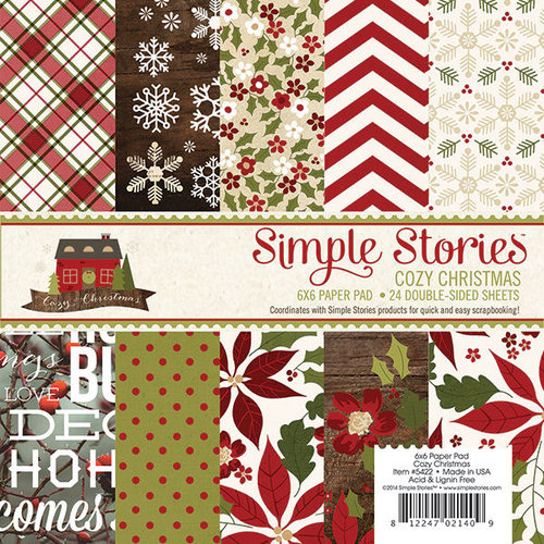 Simple Stories - Cozy Christmas Collection - 6 x 6 Paper Pad