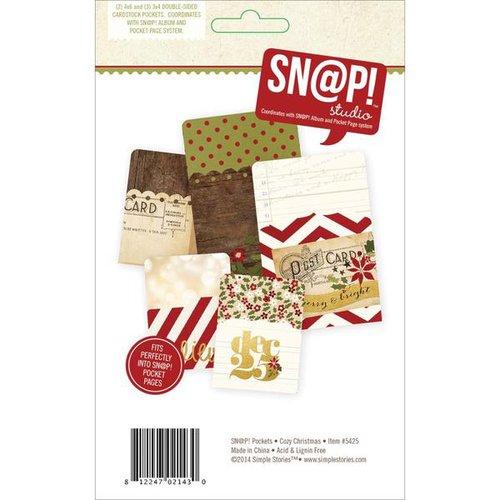 Simple Stories - SNAP Collection - Memorabilia Pockets - Cozy Christmas