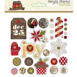 Simple Stories - Cozy Christmas Collection - Decorative Brads