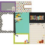 Simple Stories - Frankie and Friends Collection - Halloween - 4 x 6 and 6 x 8 Journaling Card Elements