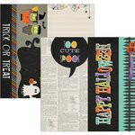 Simple Stories - Frankie and Friends Collection - Halloween - 12 x 12 Double Sided Paper - Page Elements