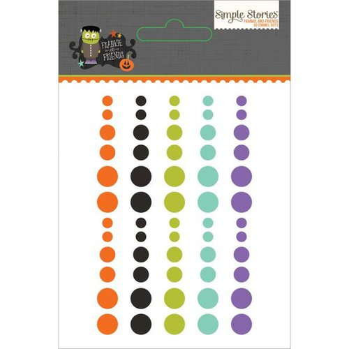 Simple Stories - Frankie and Friends Collection - Halloween - Enamel Dots