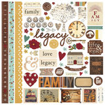 Simple Stories - Legacy Collection - 12 x 12 Cardstock Stickers - Fundamentals