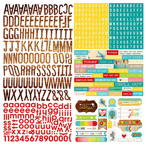 Simple Stories - Good Day Sunshine Collection - 12 x 12 Cardstock Stickers - Expressions