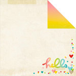 Simple Stories - Good Day Sunshine Collection - 12 x 12 Double Sided Paper - Care Free