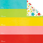 Simple Stories - Good Day Sunshine Collection - 12 x 12 Double Sided Paper - Shades of Summer