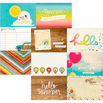 Simple Stories - Good Day Sunshine Collection - 12 x 12 Double Sided Paper - 4 x 6 Horizontal Journaling Card Elements