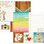 Simple Stories - Good Day Sunshine Collection - 12 x 12 Double Sided Paper - Quote and Photo Mat Elements
