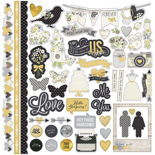 Simple Stories - The Story of Us Collection - 12 x 12 Cardstock Stickers - Fundamentals