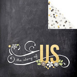 Simple Stories - The Story of Us Collection - 12 x 12 Double Sided Paper - Love Story