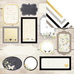Simple Stories - The Story of Us Collection - 12 x 12 Double Sided Paper - Happily Ever After