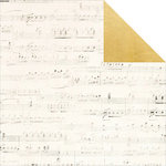 Simple Stories - The Story of Us Collection - 12 x 12 Double Sided Paper - Music