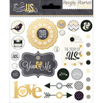 Simple Stories - The Story of Us Collection - Decorative Brads