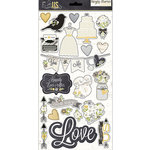 Simple Stories - The Story of Us Collection - Chipboard Stickers