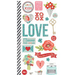 Simple Stories - Hugs and Kisses Collection - Cardstock Stickers - Fundamentals