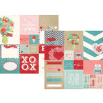 Simple Stories - Hugs and Kisses Collection - 12 x 12 Double Sided Paper - Elements 2