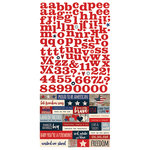 Simple Stories - Stars and Stripes Collection - Cardstock Stickers - Expressions