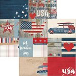 Simple Stories - Stars and Stripes Collection - 12 x 12 Double Sided Paper - Elements 1